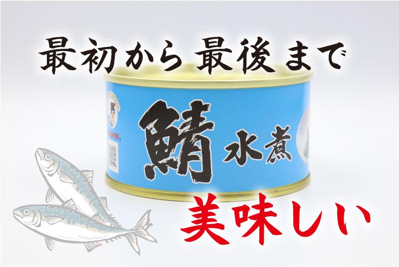 最初から最後まで美味しい 福井缶詰 鯖水煮の鯖缶