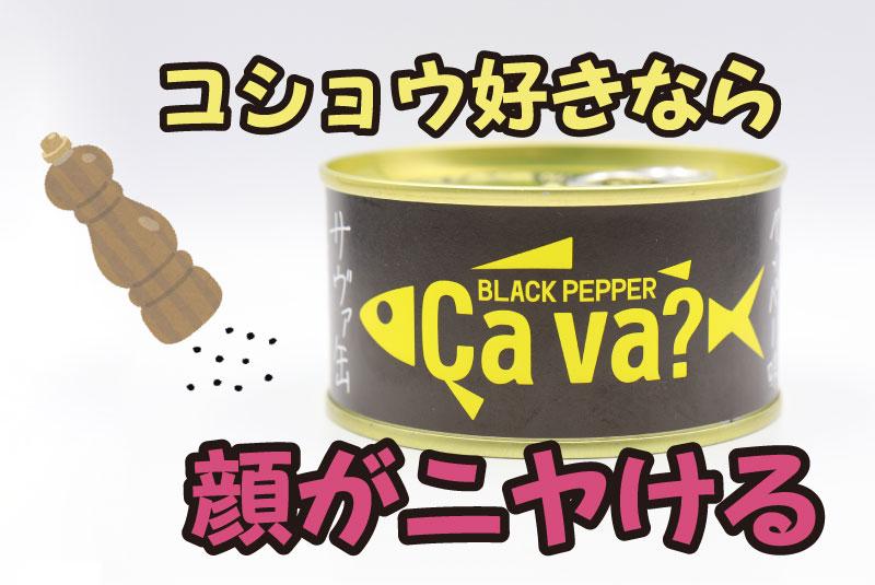 コショウ好きなら顔がニヤける 岩手県産サヴァ ブラックペッパー味の鯖缶
